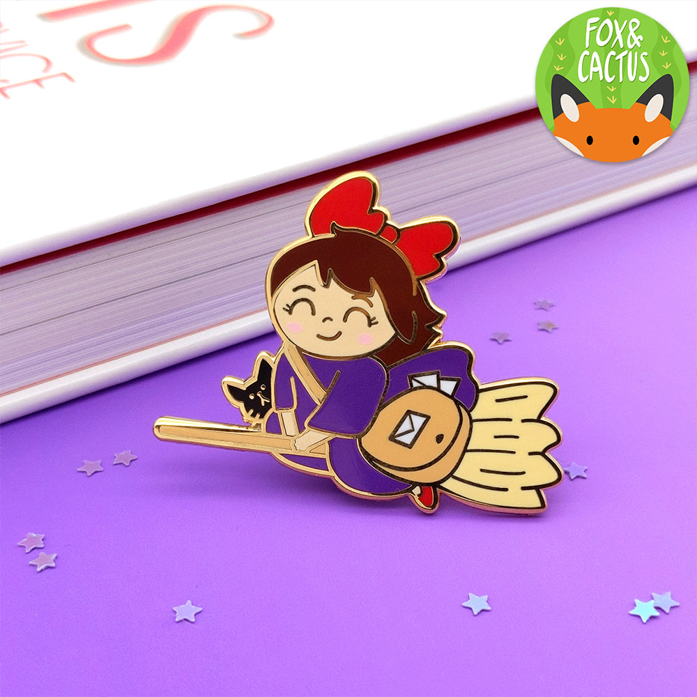 Happy Mail Witch Enamel Pin (ST0147)