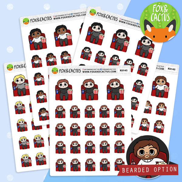 Movie Kawaii Guy Stickers (K0145)