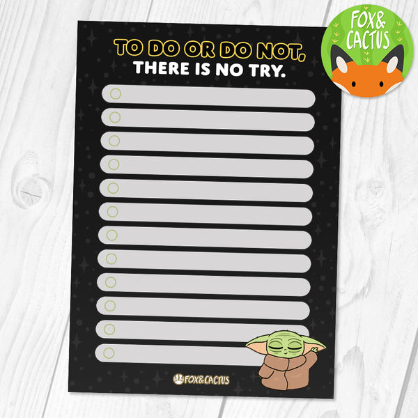 To Do or Do Not A6 (4x6) Notepad (ST0159)