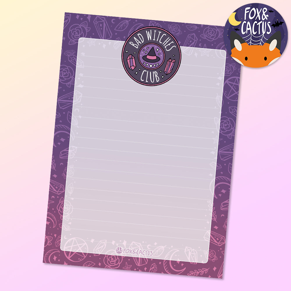 Bad Witches Club A6 (4x6) Notepad (ST0043)
