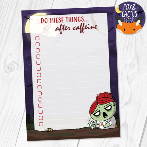 Coffee Zombie A6 (4x6) Notepad (ST0040)