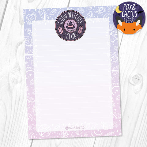 Good Witches Club A6 (4x6) Notepad (ST0042)