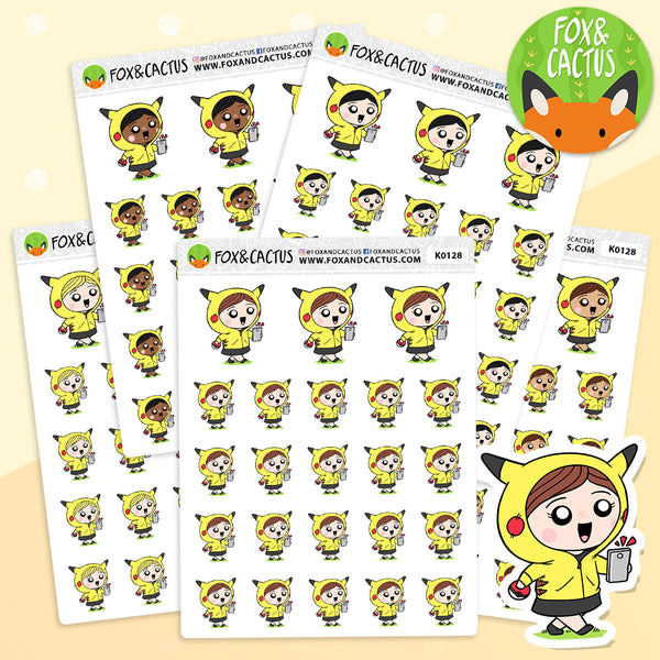 Pokemon Go Kawaii Girl Stickers (K0128)