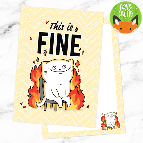This is Fine Cat Double Sided A6 Postcard (ST0006)