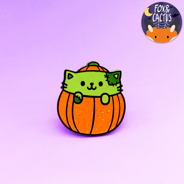Pumpkin Cat Enamel Pin (ST0046)