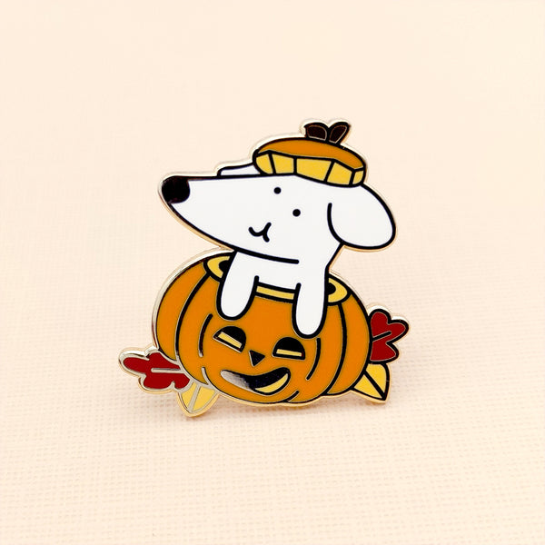 Halloweenie Pumpkin Enamel Pin (ST0135)