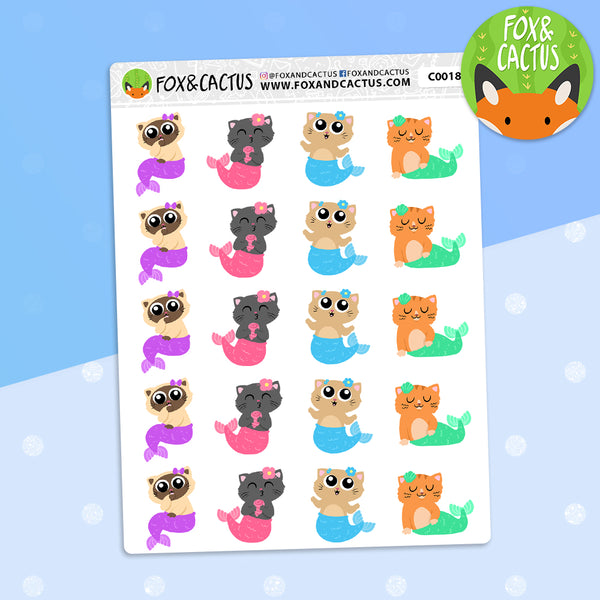 Small Purrmaid Stickers (C0018)