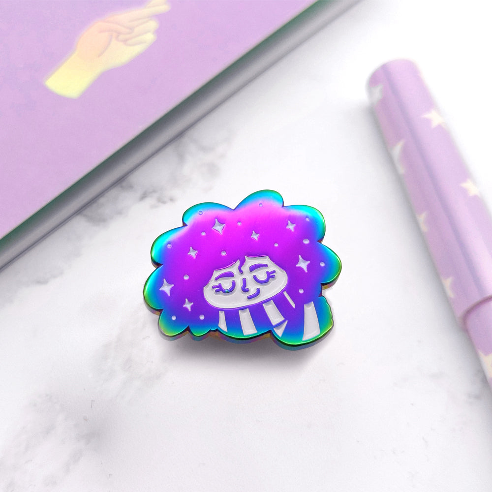 Galaxy Girl Enamel Pin (ST0096)