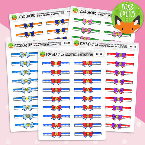 Magic Girl Bow Dividers Stickers (F0166)