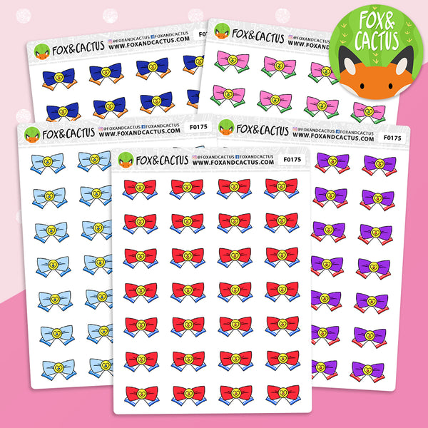 Magic Girl Bow Stickers (F0175)