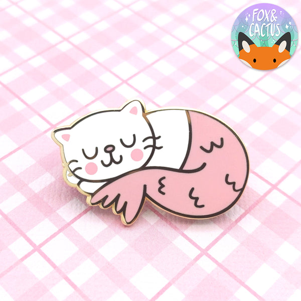 Sleepy Purrmaid Enamel Pin (ST0115)