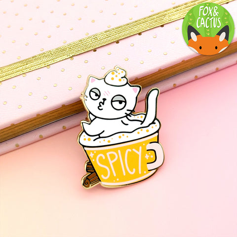 Spicy Cat Enamel Pin (ST0149)