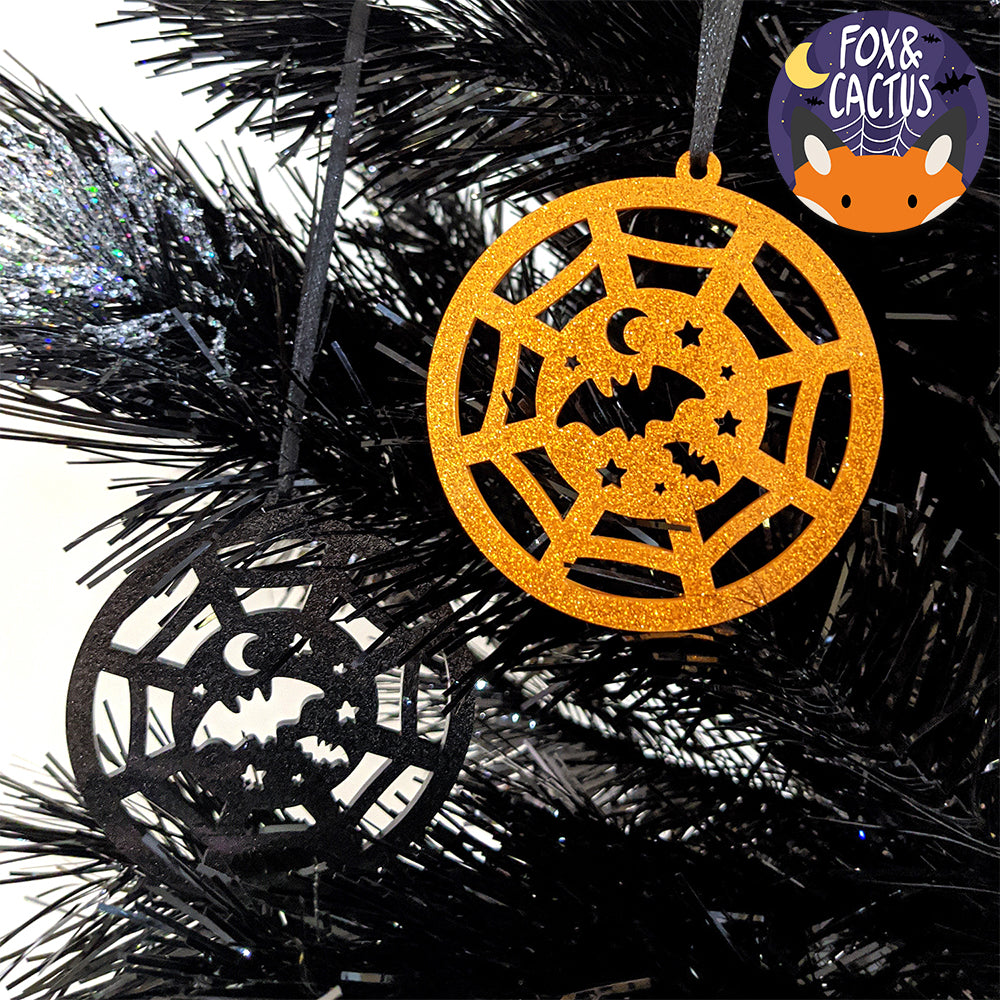 Spooky Christmas (Orange) Acrylic Ornament (AC0068)