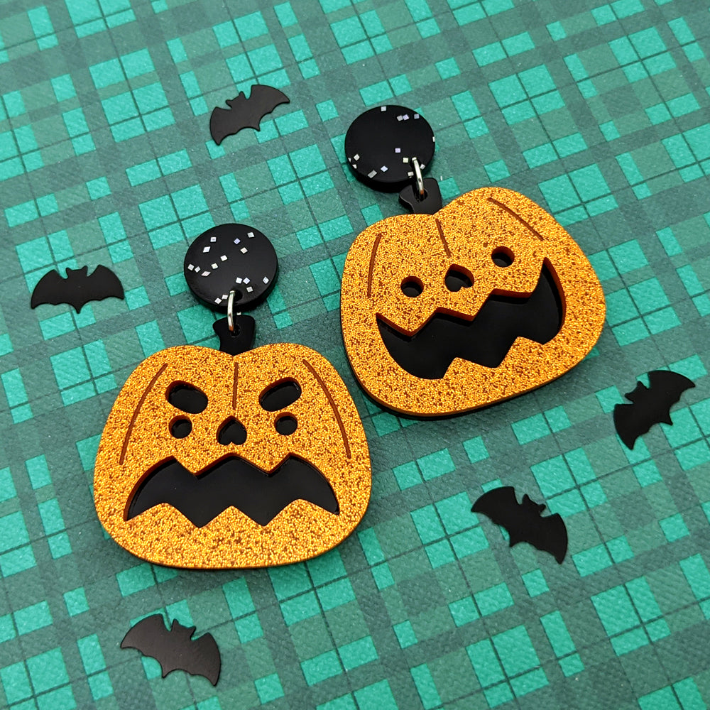 Kawaii Pumpkin Dangle Earrings (AC0049)