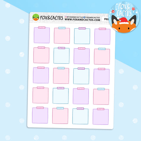 Pastel Christmas Sticky Note Stickers (F0244)