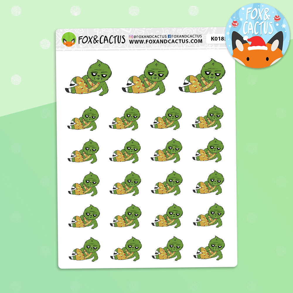 The Grinch Date Stickers (K0185)