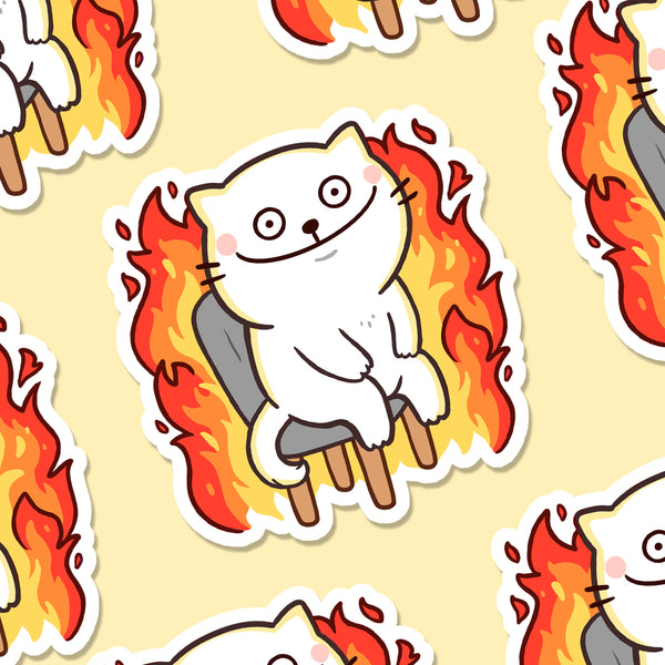 This is Fine Cat Vinyl Die Cut Sticker (ST0233)