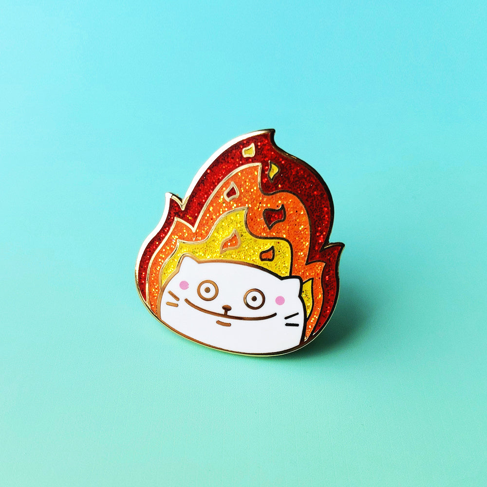 This is Fine Cat Enamel Pin (ST0057)