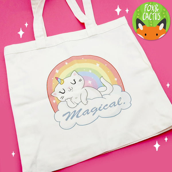 Magical Caticorn Tote Bag (ST0128)