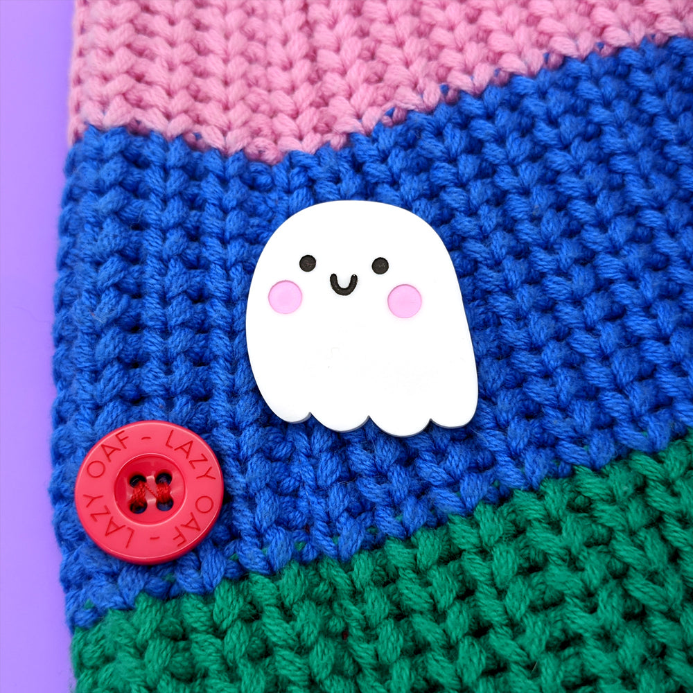 Ghost Brooch (3 Ghost Expressions Available) (AC0070)