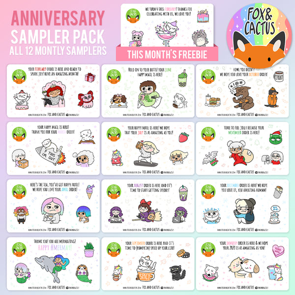 Anniversary Sampler Pack (12 months of Fox and Cactus Monthly Samplers) (ST0182)