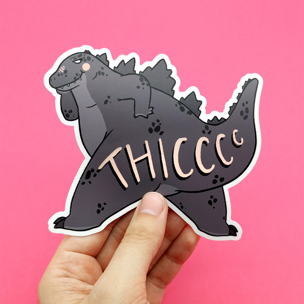 Thiccc Daddy Godzilla Jumbo Vinyl Die Cut Sticker (ST0130)