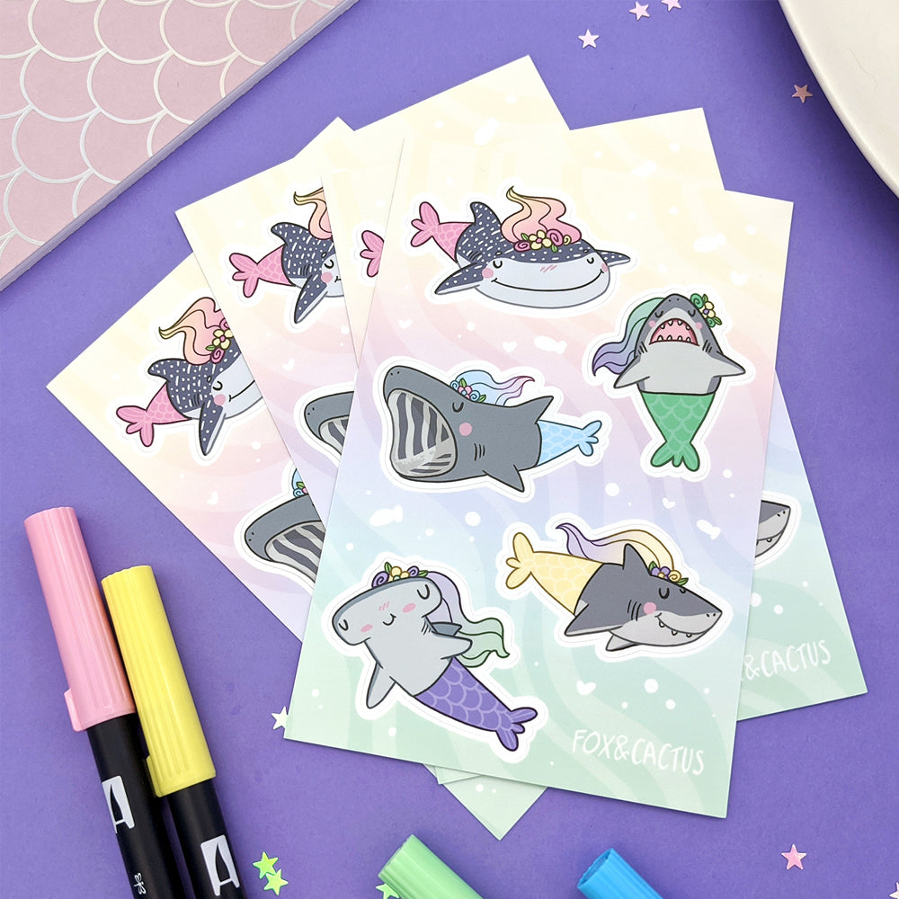 MerSharks Vinyl Sticker Sheet (ST0186)