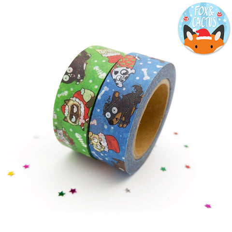 Christmas Cats and Dogs Washi Tape (W0010 + W0011)
