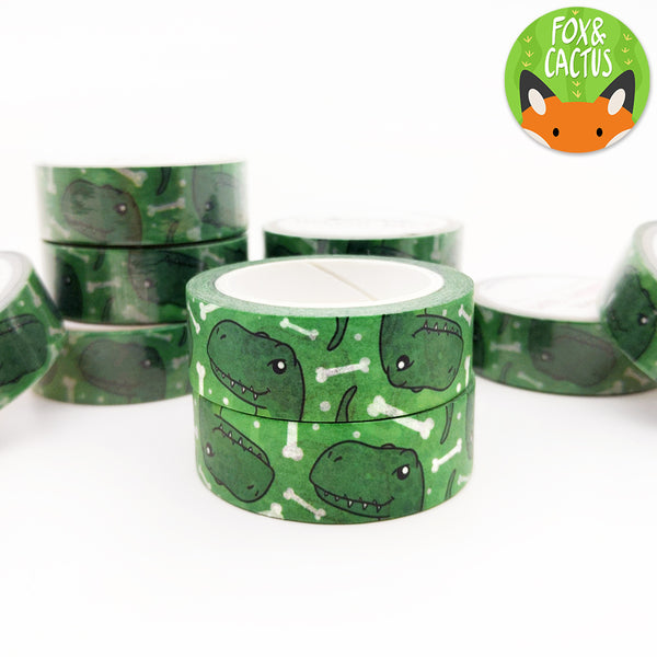 Dinosaur Green Raptor Washi Tape (W0013)