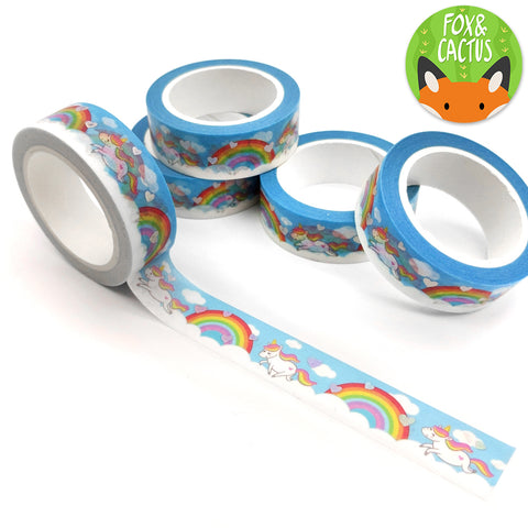 Holo Foil Rainbow Unicorn Washi Tape (W0028)