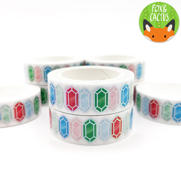 Holo Foil Rainbow Gems Washi Tape (W0031)