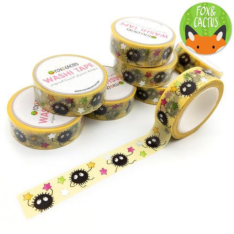 Silver Foil Sooted Away Washi Tape (W0057)