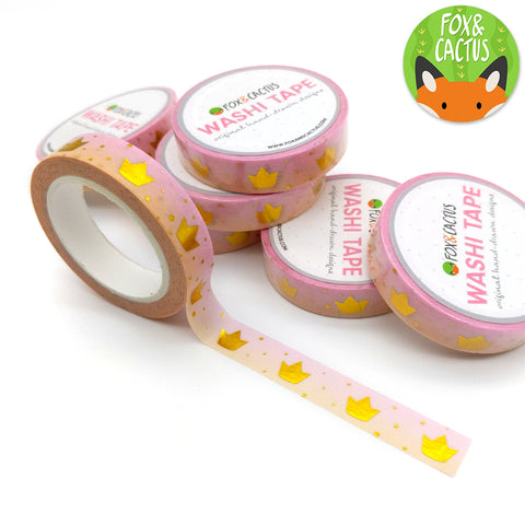 Gold Foil Royal Crowns Washi Tape (W0067)