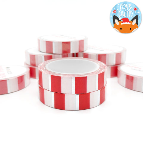 Silver Foil Christmas Candyland 10mm Washi Tape (W0069)
