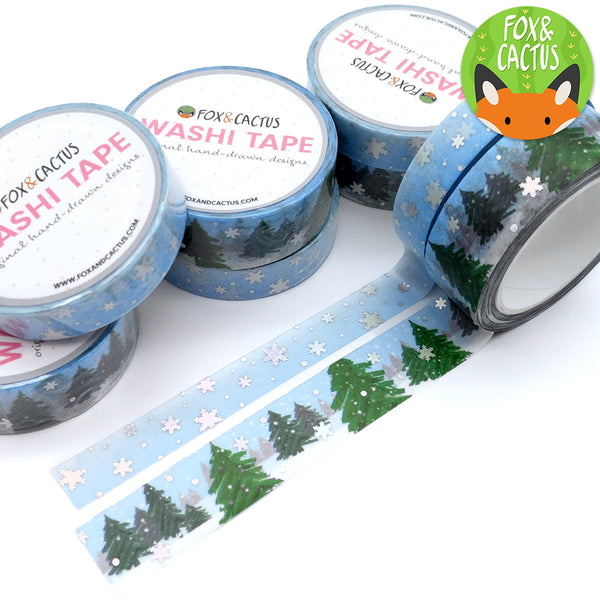 Holo Foil Winter Magic Washi Tape Set (W0075 + W0076)