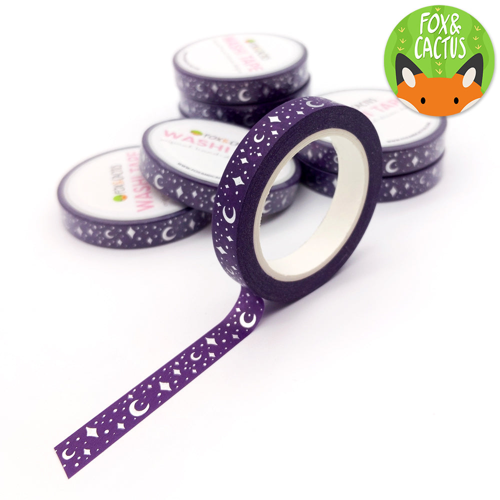Silver Foil Celestial (Bad Witches) Washi Tapes (W0086)