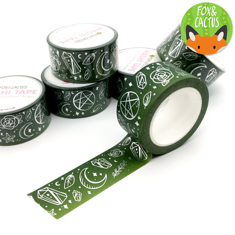Silver Foil Witchy Vibes (Earth) Washi Tapes (W0095)
