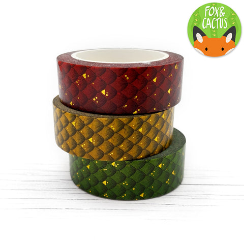 Gold Foil Mother of Dragons Washi Tape Set (W0101)