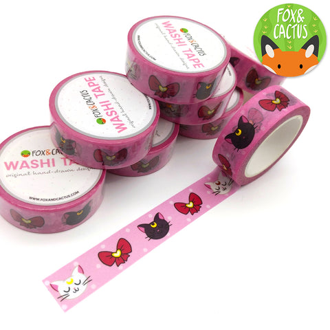 Gold Foil Magic Cats Washi Tape (W0108)