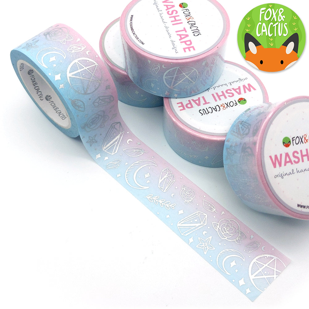 Holo Foil Witchy Vibes (Cotton Candy) 22mm Washi Tape (W0142)