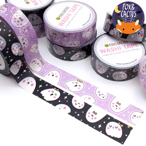 Holo Foil Cutie Ghosts Washi Tape (W0148)