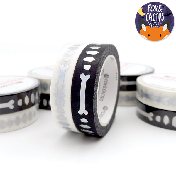 Holo Foil Dem Bones Washi Tape Set (W0148)