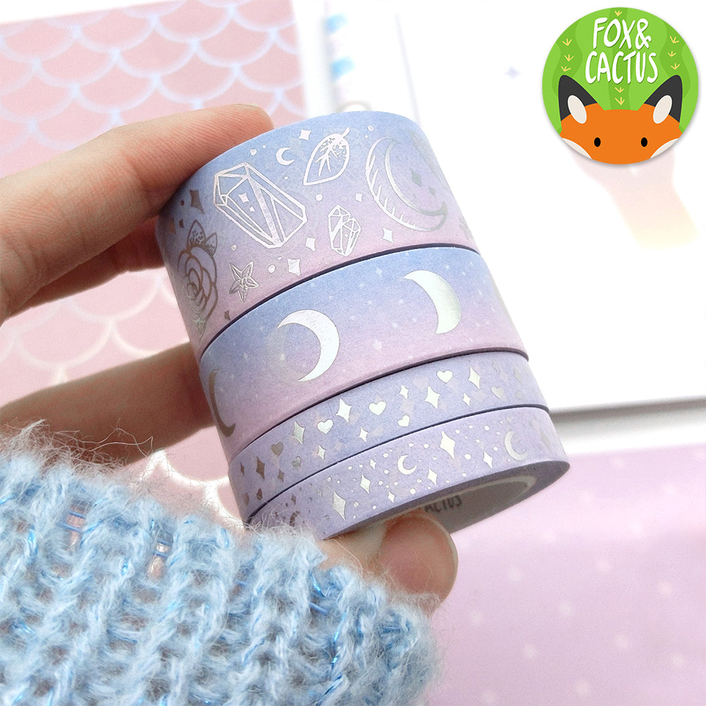 Holo Foil Moon Phases (Sweet Dreams) Washi Tape (W0155)