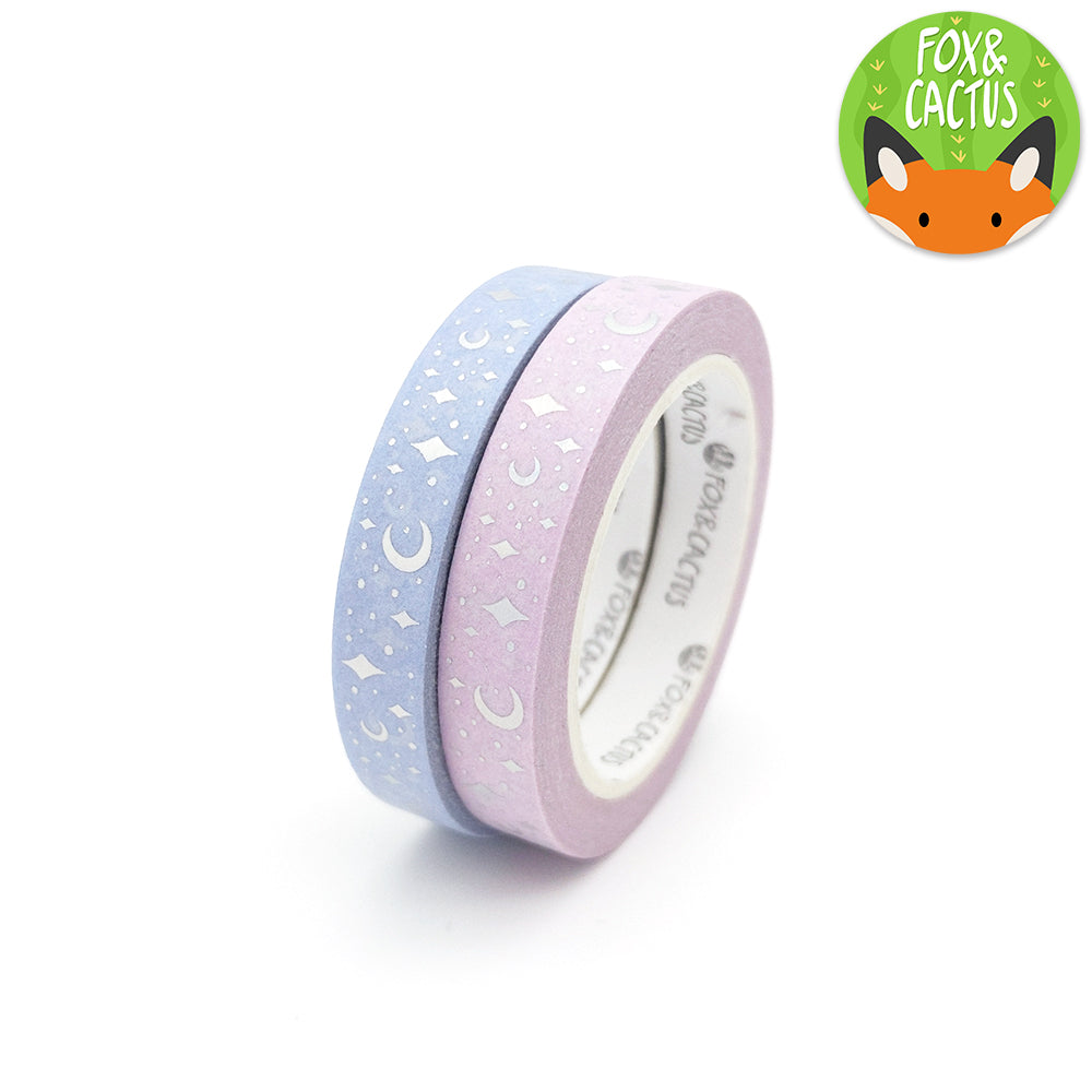 Holo Foil Celestial (Sweet Dreams) Washi Tape Set (W0157 + W0158)