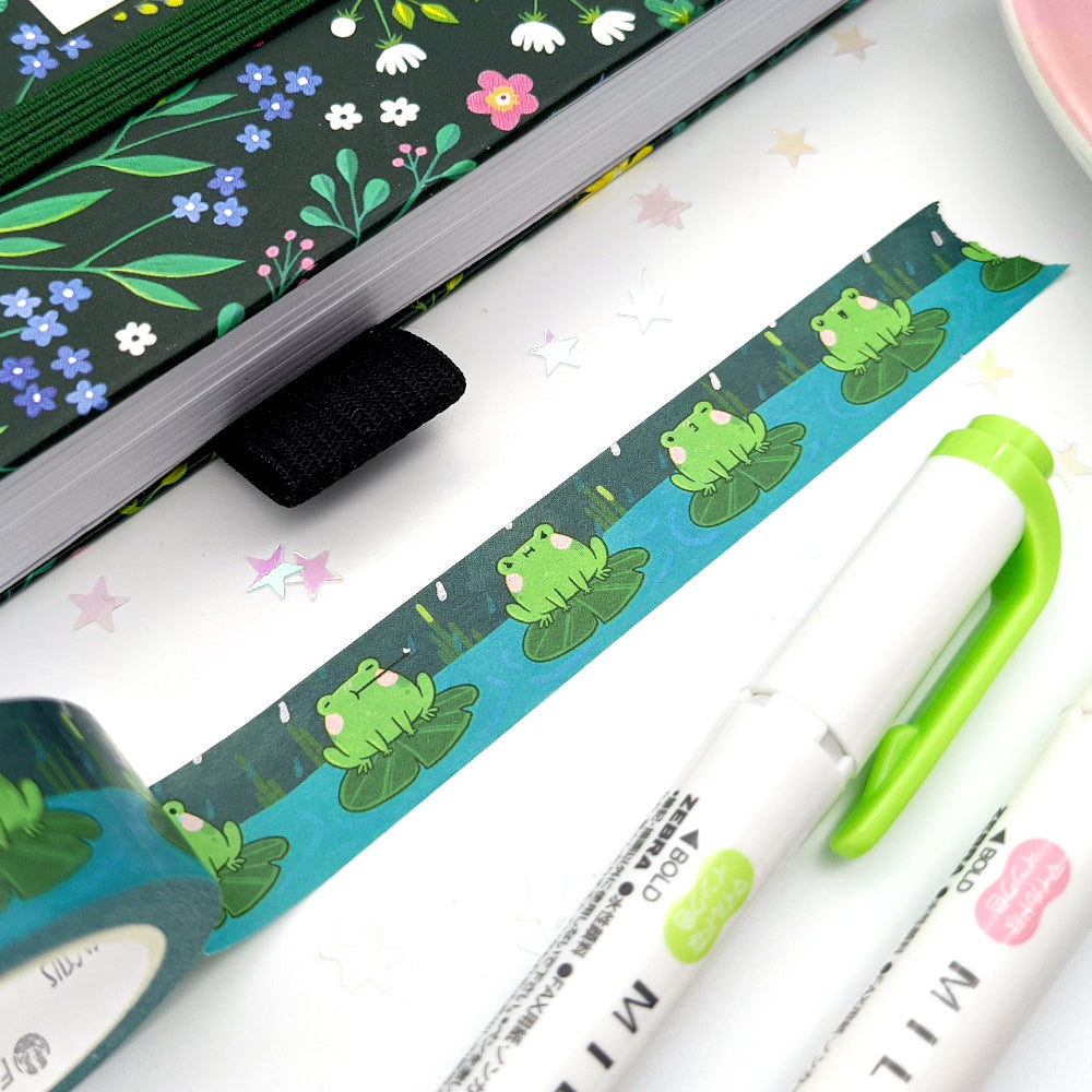 Holo Foil Froggy Washi Tape (W0175)