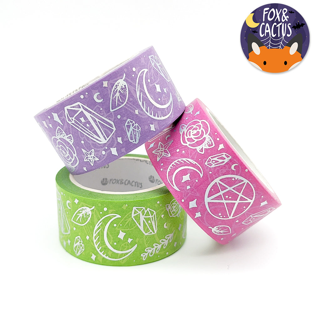 Holo Foil Witchy Vibes (Rad) Washi Tape Set (W0185)