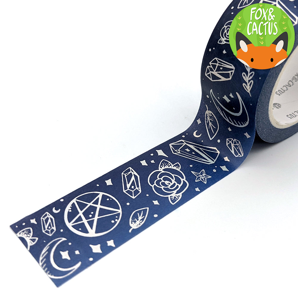Holo Foil Witchy Vibes (Midnight) Washi Tape Set (W0225 + W0226)