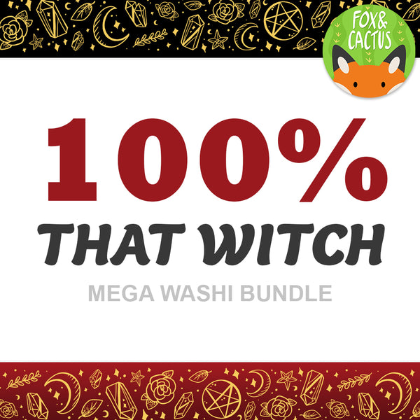100% That Witch Mega Washi Bundle (All 18 Rolls) (LIMIT ONE PER PERSON)