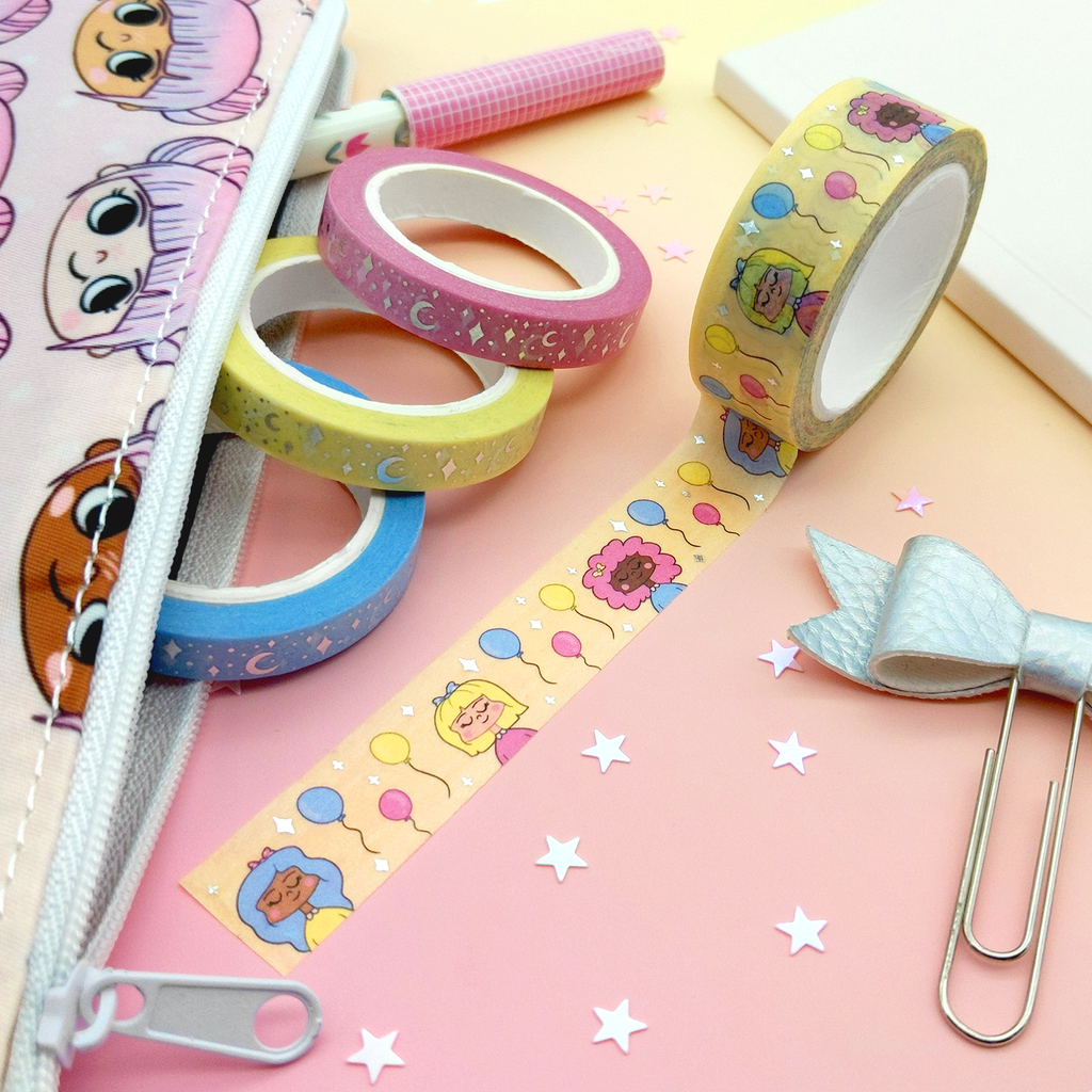 Silver Foil Birthday Girl Washi Tape (W0109)