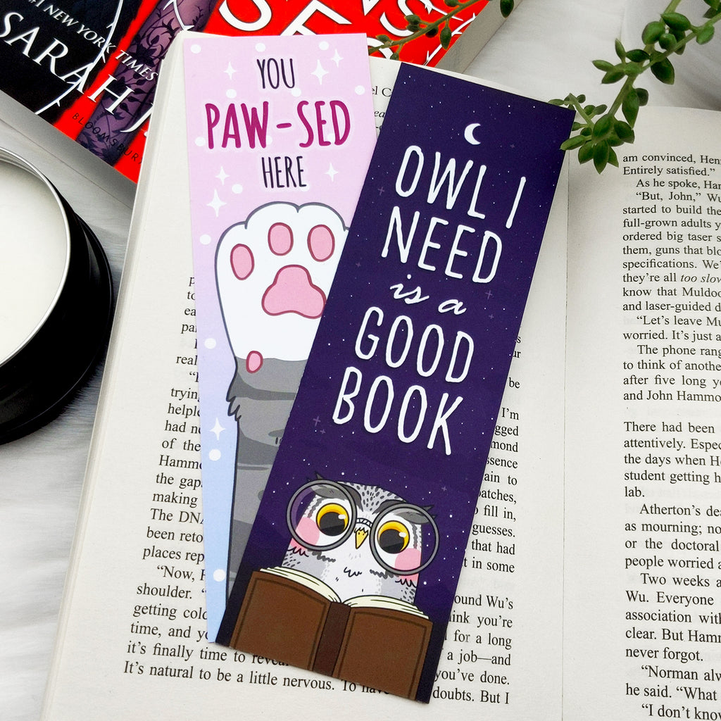 Owl I Need is a Good Book Bookmark (ST0108)
